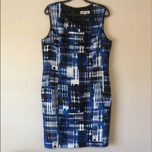 Kasper Blue/Black/White Dress